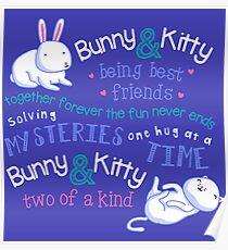 Bunny & Kitty Poster