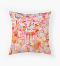 Ethereal Landscape in Orange Throw Pillow