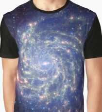 Messier 101 Spiral Galaxy Astronomy Image Graphic T-Shirt
