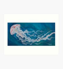 Jellyfish in Flight Art Print