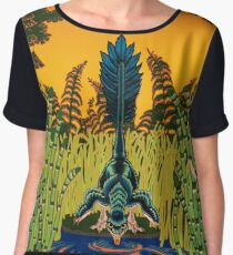 Troodon in the Rushes Chiffon Top
