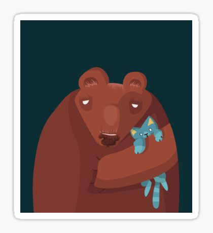 Sleepy bear Sticker