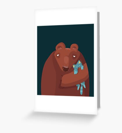 Sleepy bear Greeting Card