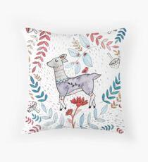 Woodland Deer Party Throw Pillow