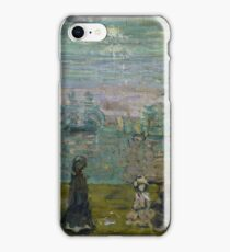 MAURICE BRAZIL PRENDERGAST, ), PROMENADE WITH PARASOLS iPhone Case/Skin