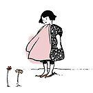 Flower Girl - Victorian illustration by pixelspin