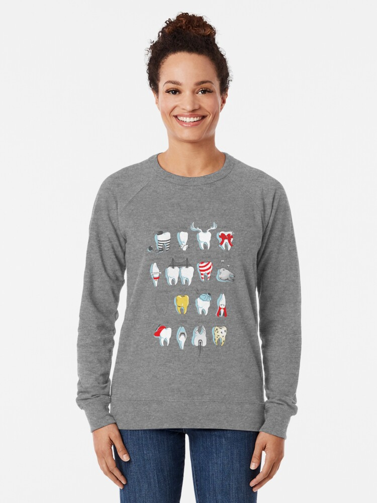 Alternate view of Dental Definitions Lightweight Sweatshirt