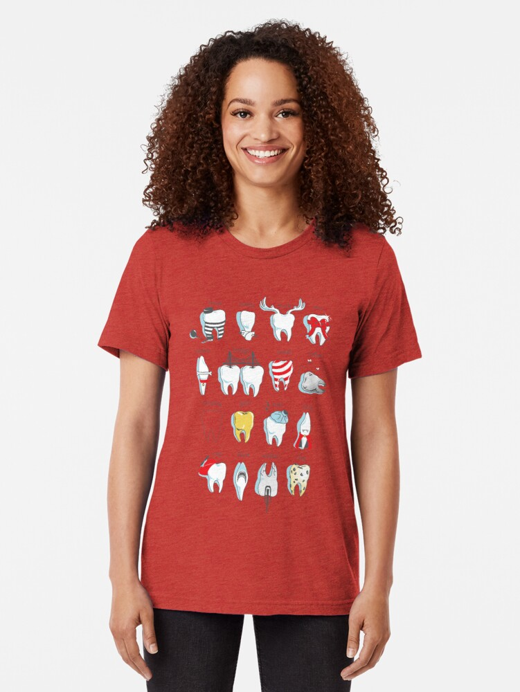Alternate view of Dental Definitions Tri-blend T-Shirt