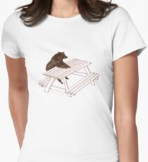 Picnic Bear Womens Fitted T-Shirt