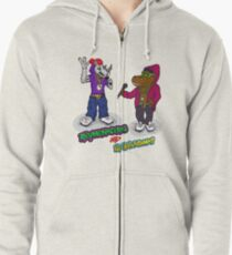 FLIGHT OF THE CONCHORDS - THE HIPHOPOPOTAMUS AND THE RHYMENOCEROS - TOGETHER ON THE ONE SHIRT Zipped Hoodie