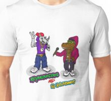 FLIGHT OF THE CONCHORDS - THE HIPHOPOPOTAMUS AND THE RHYMENOCEROS - TOGETHER ON THE ONE SHIRT Unisex T-Shirt