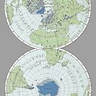 Old Map of the World - Poles by pixelspin