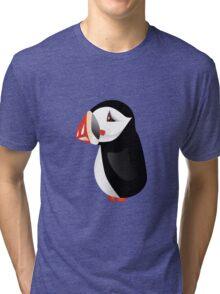 Cute cartoon puffin Tri-blend T-Shirt