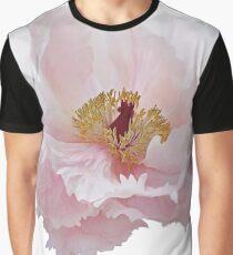 Pink Tree Peony Flower Graphic T-Shirt