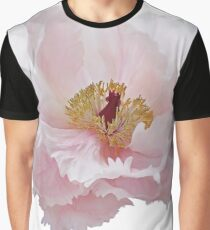 Pink Tree Peony Flower Graphic T-Shirt