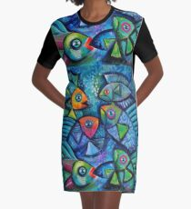 Fancy Fish  Graphic T-Shirt Dress