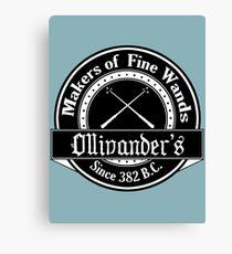 Ollivander's Wand Shop Logo Canvas Print