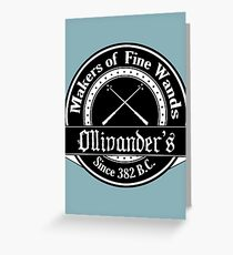 Ollivander's Wand Shop Logo Greeting Card