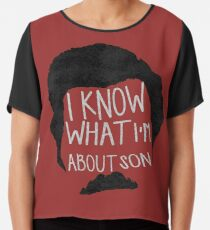 I know what im about son Chiffon Top