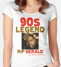 RIP GERALD LEVERT Women's Fitted Scoop T-Shirt