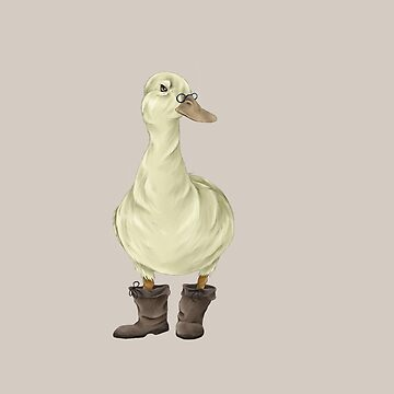 duck in boots by Devonbusbyart