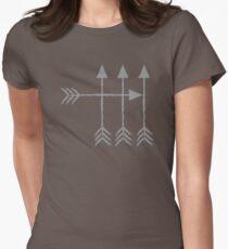 Camiseta entallada para mujer Diseño de tiro con arco de flecha 4 flechas hipster