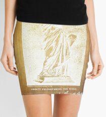 Statue If Liberty Original Patent By Bartholdi 1879 Mini Skirt