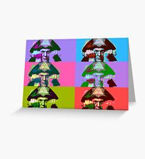 Aleister Crowley Pop Art Greeting Card