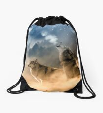 Moonrise Howl Drawstring Bag