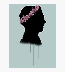 Cumberbatch in a flower crown Photographic Print