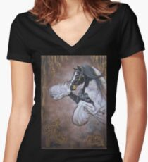 Shining Gypsy Gold Women's Fitted V-Neck T-Shirt
