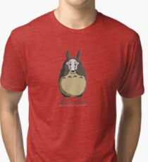 Totoro I'm not here Tri-blend T-Shirt