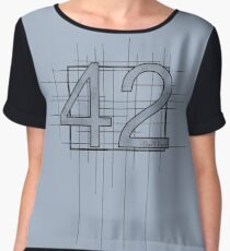Hitchhiker's Guide to the Galaxy - 42 Chiffon Top