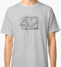 Hitchhiker's Guide to the Galaxy - 42 Classic T-Shirt
