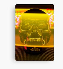 Skull with light painting Canvas Print
