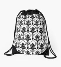 221b sherlock wallpaper Drawstring Bag
