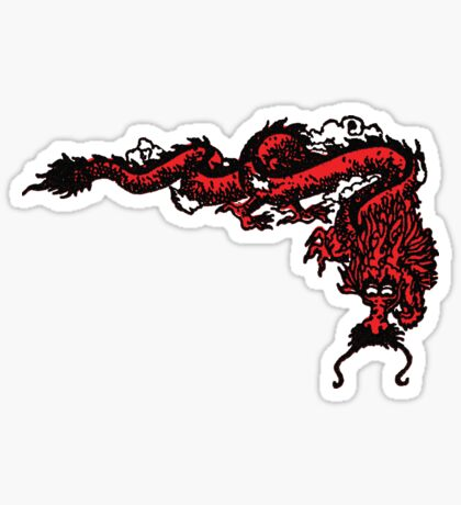 1970's Kung Fu Dragon  Sticker