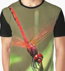 Beautiful Firecracker Dragonfly Graphic T-Shirt