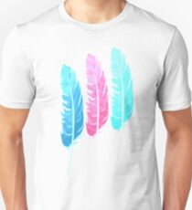 Colorful Feathers Unisex T-Shirt