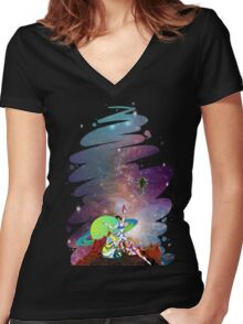 Dandy Vacation. In Space Women's Fitted V-Neck T-Shirt