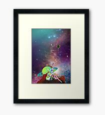 Dandy Vacation. In Space Framed Print