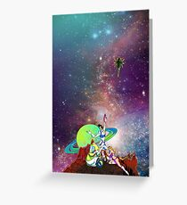 Dandy Vacation. In Space Greeting Card