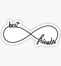 Best friends forever, infinity sign Sticker