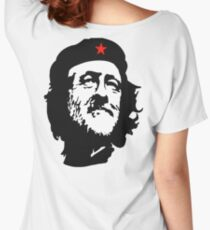 CORBYN, Comrade Corbyn, Election, Leader, Politics, Labour Party, Black on White Women's Relaxed Fit T-Shirt