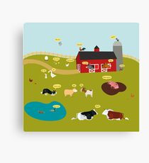 What do the farm animals say (French version) Canvas Print