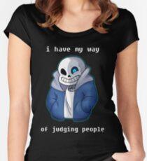 Sans Judgemental Women's Fitted Scoop T-Shirt