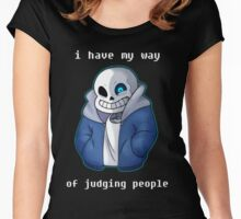 Sans Judgmental Women's Fitted Scoop T-Shirt