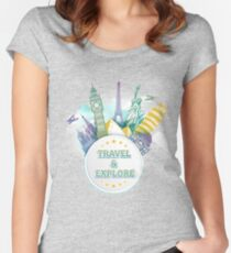 Travel & Explore Women's Fitted Scoop T-Shirt