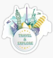 Travel & Explore Sticker