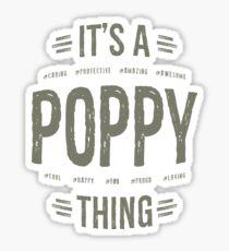 Gift for Poppy Sticker